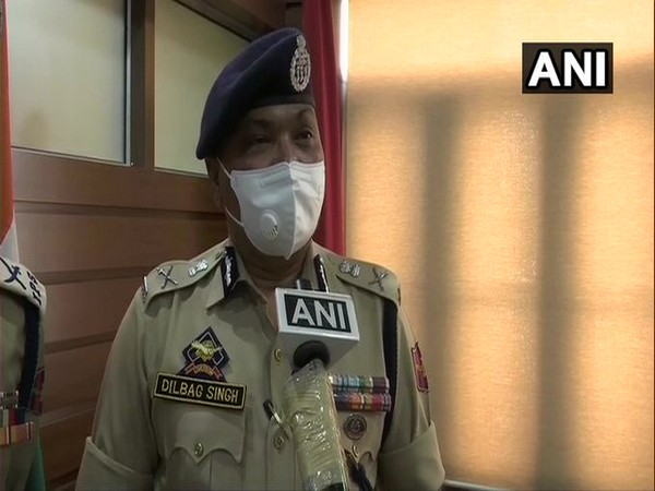 Jammu and Kashmir DGP Dilbag Singh speaking to ANI on Tuesday.