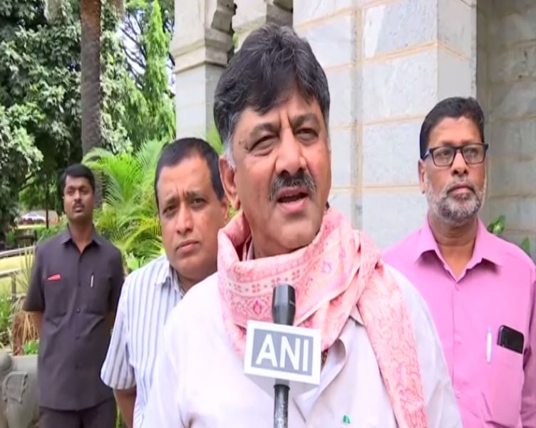 D.K. Shivakumar speaking to reporters on Sunday (Photo/ANI)