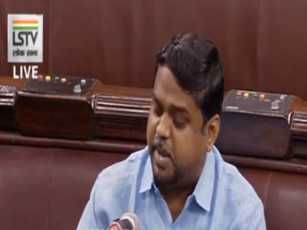 DMK MP Dr DNV Senthilkumar speaking to ANI in Lok Sabha on Wednesday.