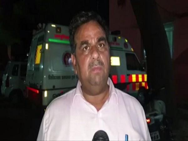 District Magistrate (DM) Sarvagya Ram Mishra speaking to ANI in Mathura. Photo/ANI