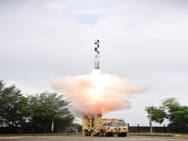 BrahMos Supersonic Cruise Missile being tested on Wednesday (Photo/Twitter)