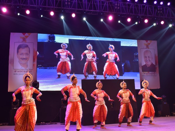 Artists playing cultural programmes in the six day-long Youth Festival in Delhi. Photo/ANI