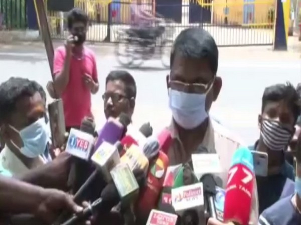DSP Kumar, who was a part of the TNHRC team, speaking to reporters on Saturday. Photo/ANI