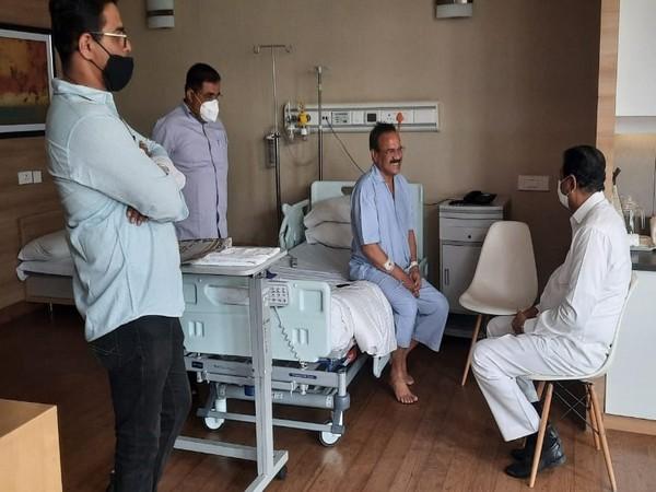 Union Minister DV Sadananda Gowda discharged from hospital in Bengaluru (Photo: Twitter)