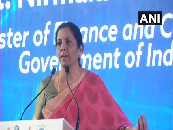 Finance Minister Nirmala Sitharaman while addressing the International Business Conference of Nagarathar on Saturday. [Photo/ANI]