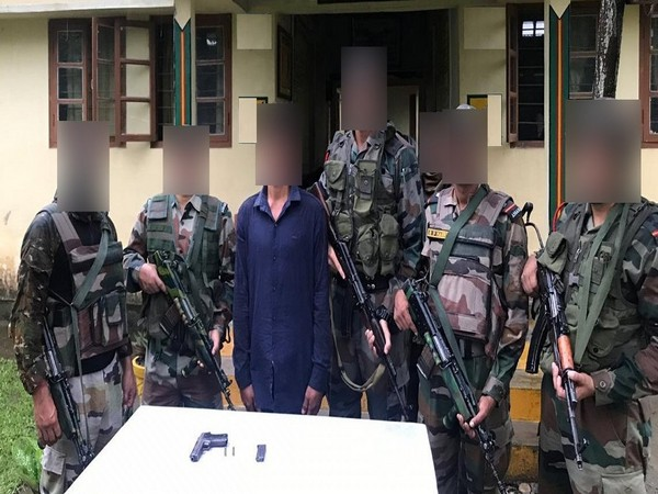 Indian Army unit apprehended one active ULFA(I) cadre (Photo tweeted by Eastern Command)