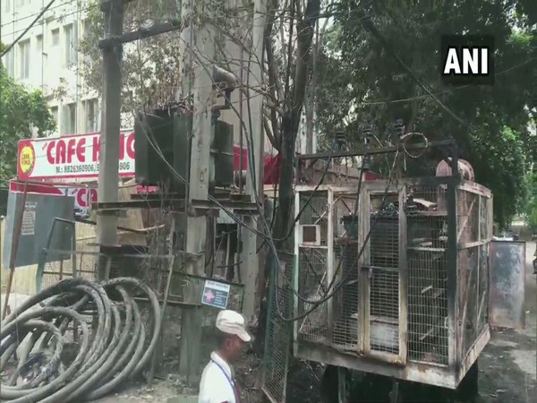 A fire broke out at an electric transformer in DLF phase-3 area on Friday. Photo/ANI