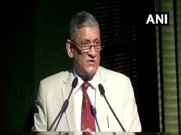 Army chief General Bipin Rawat speaking at an event in New Delhi on Saturday. Photo/ANI