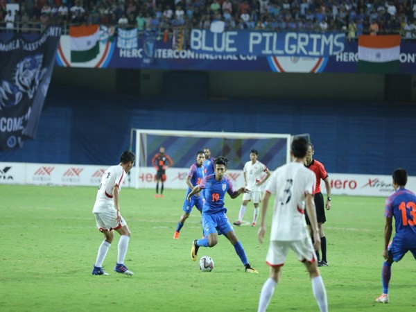 Indian and DPR Korea's players in action during the Intercontinental Cup (Photo/ Indian Football Twitter)