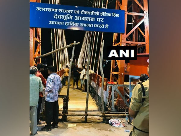 Lakshman Jhula in Rishikesh closed for vehicles by the Public Works Department (PWD)
