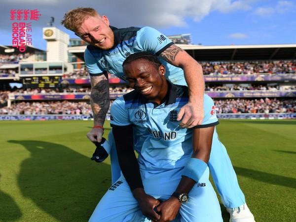 Jofra Archer with Ben Stokes (Photo/England Cricket Twitter)