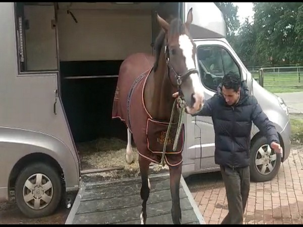 Fouaad Mirza with his new horse, Dajara