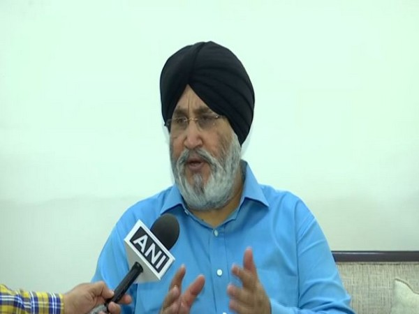 SAD spokesperson Daljit Singh Cheema speaking to ANI in Chandigarh on Sunday. Photo/ANI