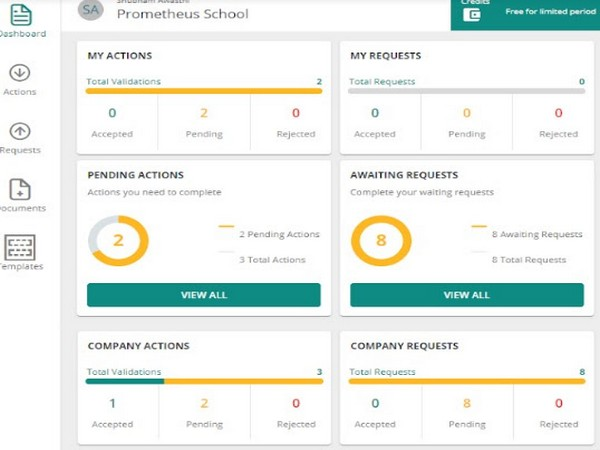 Dashboard: A single-view of all the completed and pending activities carried out