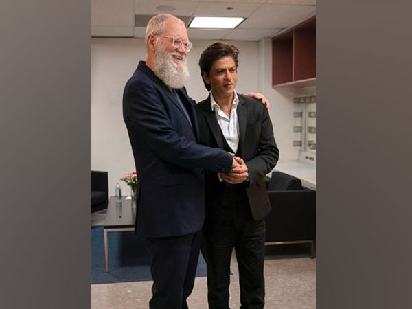 David Letterman and Shah Rukh Khan