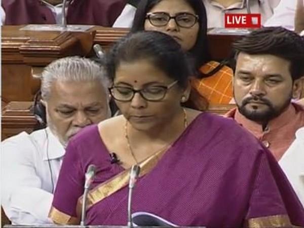 Union Finance Minister Nirmala Sitharaman [Photo Credit: Lok Sabha Tv]