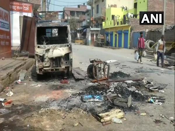 A picture of Delhi violence.