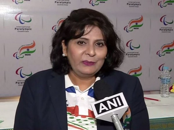 2016 Paralympics silver medallist Deepa Malik speaking to ANI in New Delhi on Sunday. Photo/ANI