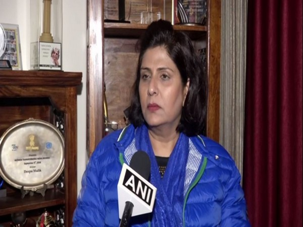 Noted para-athlete Deepa Malik talking to ANI in New Delhi on Friday.