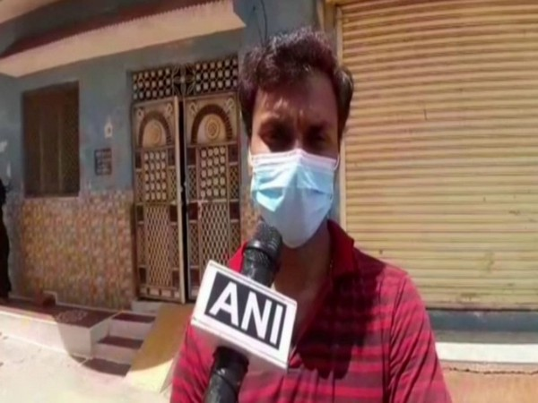 Deepak Sharma, the recovered COVID-19 patient, talking to ANI. Photo/ANI
