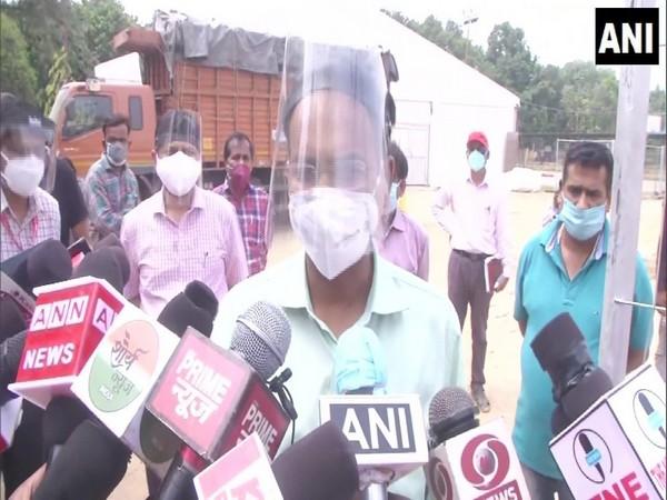 Varanasi Commissioner Deepak Agrawal speaking to media on Thursday. (Photo/ANI)