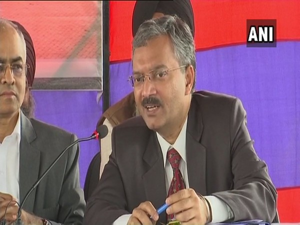Joint Secretary of the Ministry of External Affairs, Deepak Mittal addressing the media today at Attari in Punjab