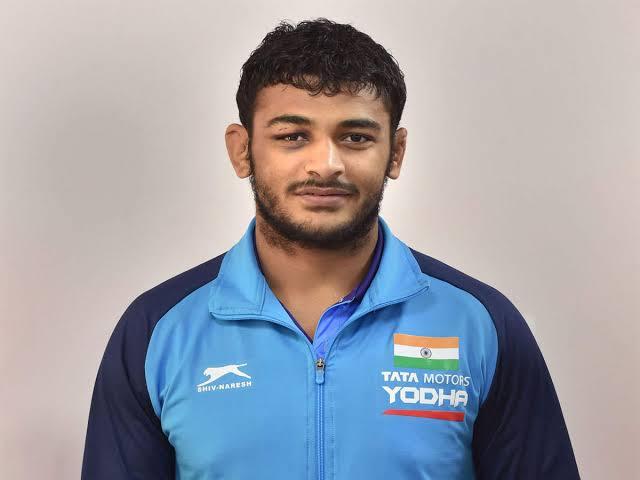 Wrestler Deepak Punia. (Photo/SAI Media Twitter)