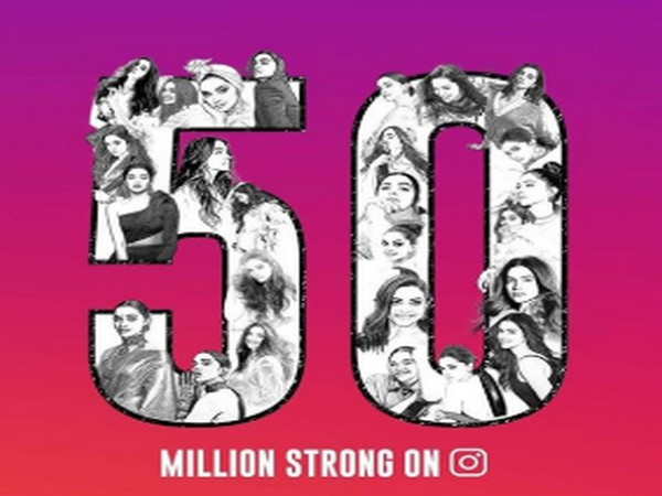 Fan art celebrating 50 million followers of Deepika Padukone on Instagram (Image Source: Deepika Padukone's Instagram)