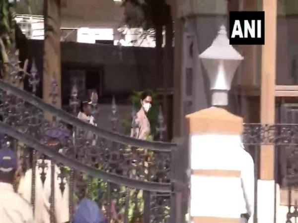 Actor Deepika Padukone arriving at NCB office in Mumbai on Saturday. Photo/ANI