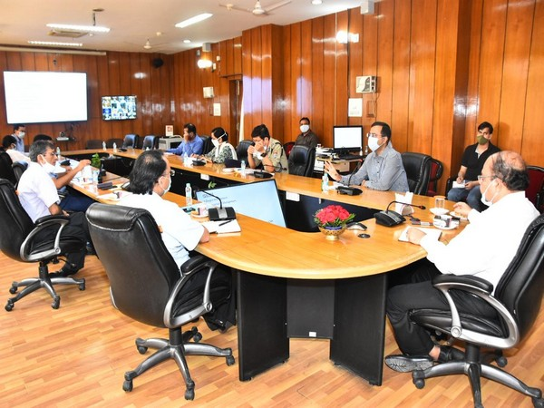 Uttarakhand Chief Secretary Om Prakash held a virtual meeting regarding COVID-19 on Saturday.