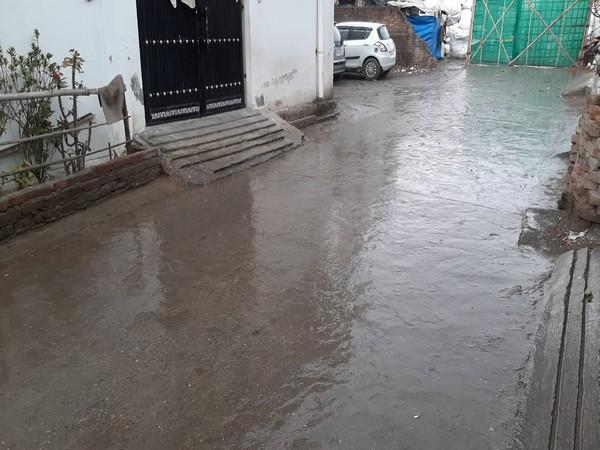 Parts of Dehradun witness rainfall on Sunday. Photo/ANI