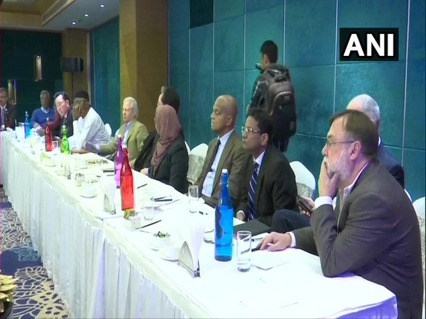 Delegation of 15 foreign envoys meeting civil society representatives and community leaders in Jammu on Friday.