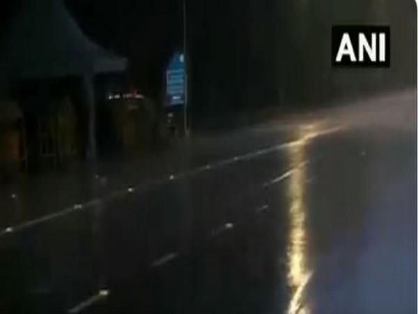 Visual of rain in Delhi on Wednesday.
