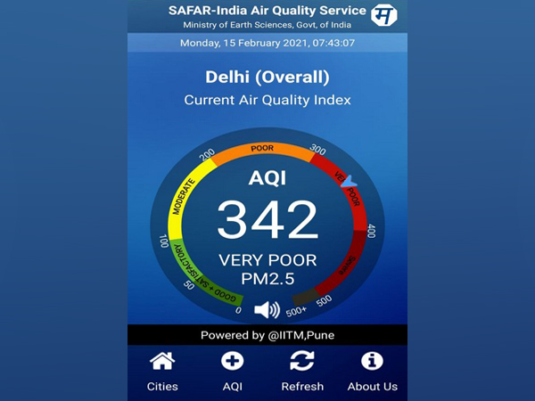 The Air quality in Delhi remain in the 'very poor' category on Monday.