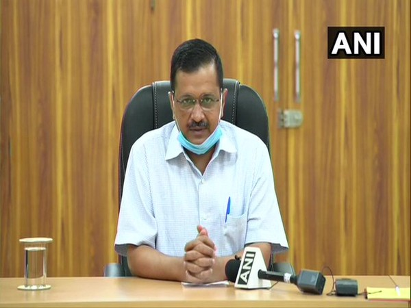 Delhi Chief Minister Arvind Kejriwal speaking at a press conference on Monday. [Photo/ANI]