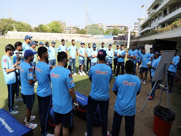 Delhi Capitals squad took part in their first nets session on Tuesday (Image: Delhi Capitals)