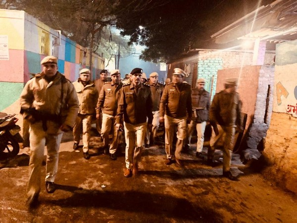 Delhi Police conducts foot patrolling