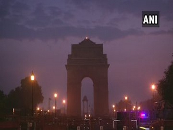 Clear sky in Delhi this morning; visuals from India Gate area.