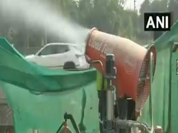 Anti-smog guns deployed at construction sites in Delhi to control pollution. Photo/ANI