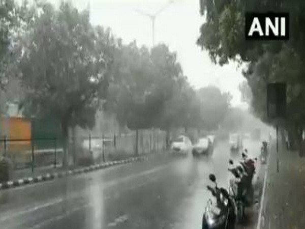 Parts of Delhi received rain earlier today. [Photo/ANI]
