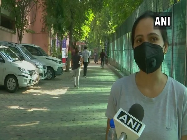 A student appearing for UPSC Preliminary examinsation 2020 in New Delhi. (Photo/ANI)