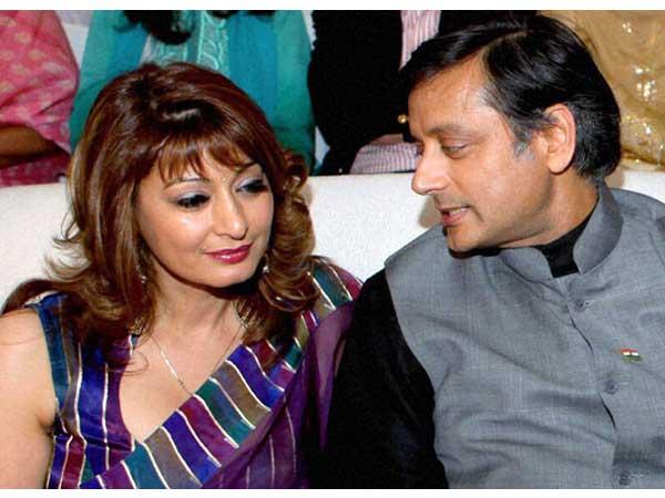 Sunanda Pushkar (left) with Congress MP Shashi Tharoor