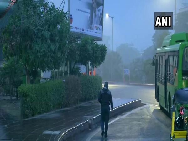 Visual from Krishi Bhawan in New Delhi on Thursday. Photo/ANI