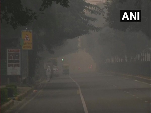 A layer of smog blankets the national capital this morning; visuals from the area around Africa Avenue road
