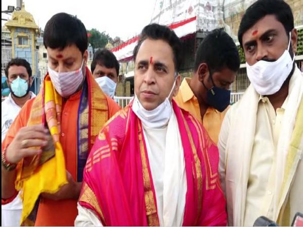 Andhra Pradesh Bharatiya Janata Party (BJP) Co Incharge Sunil Deodhar (Photo/ANI)