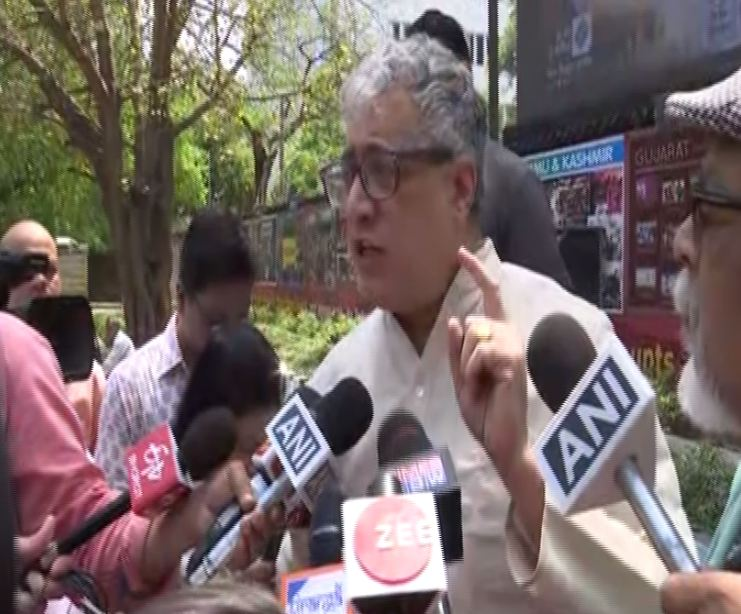 Trinamool Congress leader Derek O'Brien while speaking to media persons in New Delhi on Wednesday. Photo/ANI