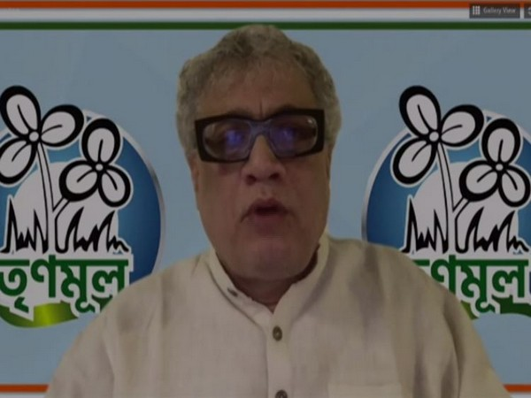 TMC leader and Rajya Sabha MP Derek O' Brien speaking through video conferencing on Tuesday. Photo/ANI