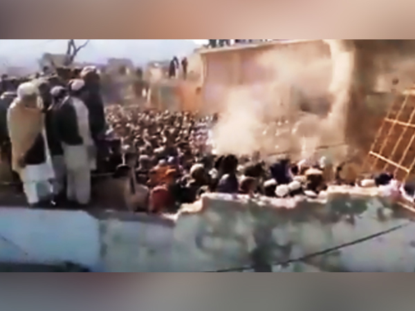A Hindu temple in Karak district of Khyber Pakhtunkhwa province destroyed and set on fire by a mob in Pakistan (File Photo)