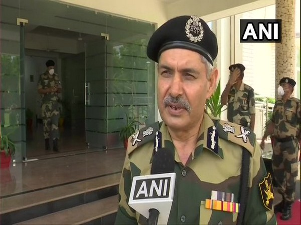 DG BSF and ITBP SS Deswal speaking to ANI on Sunday. Photo/ANI
