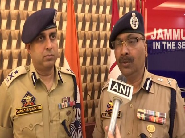 DGP Dilbagh Singh speaking to reporters in Srinagar on Sunday. Photo/ANI